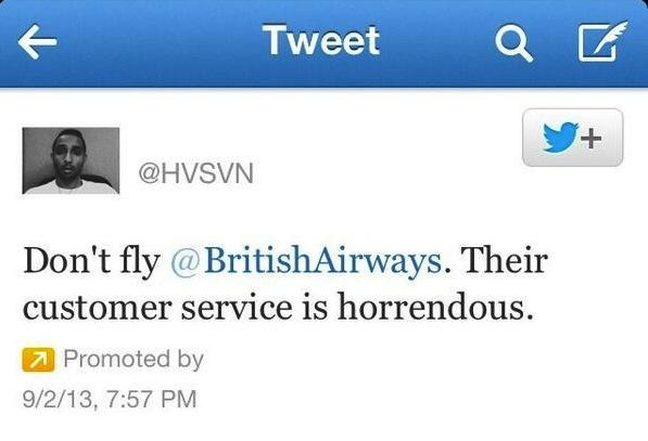 Twitter British Airways