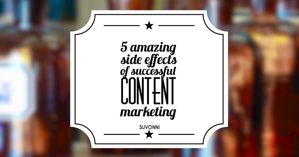 Successful Content Marketing Side Effects